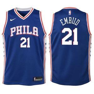 Youth Philadelphia 76ers 21 Joel Embiid Jersey